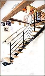 escalier en métal et fer forgé