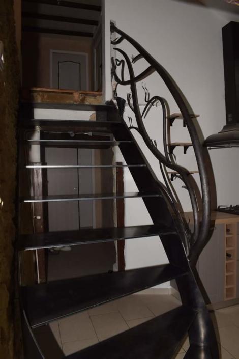escalier et garde corps sur mesure en métal