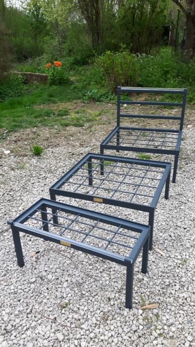 mobilier d'extérieur en fer sur mesure