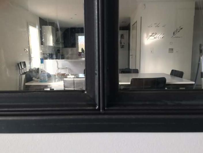 verrière d'intérieur moderne en acier