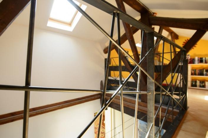 garde-corps design mezzanine en acier