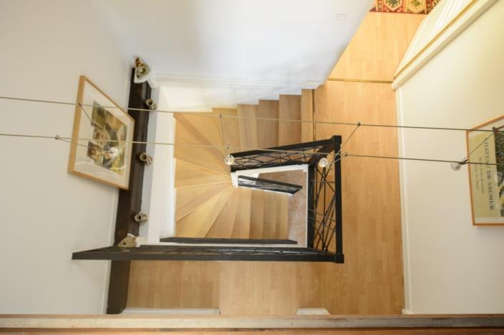 trémie et garde-corps escalier en acier et inox