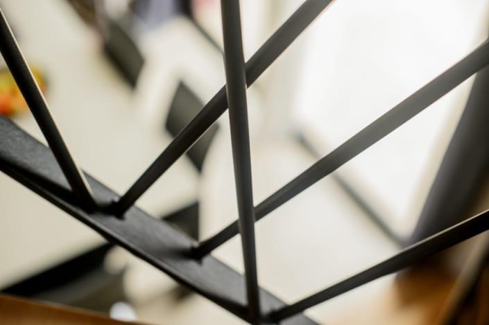 limon escalier design en acier