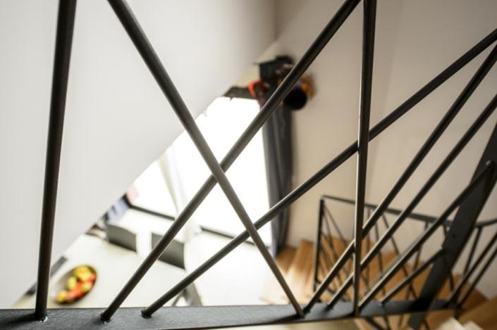 limon et rampe d'escalier design en acier