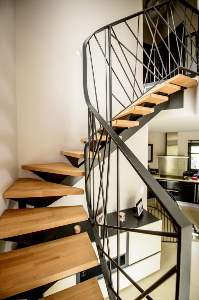 Escaliers Quart 1 4 Tournant En Fer Ou Acier Ferronnerie