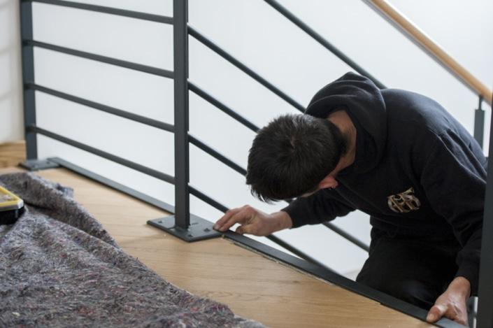rampe escalier moderne en fer