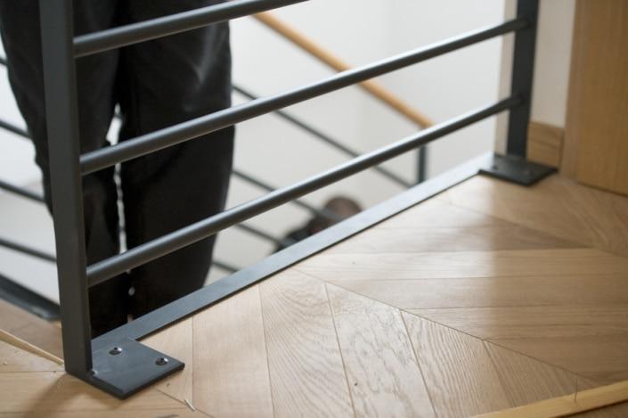 escalier et rampe en métal themolaque