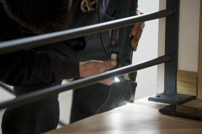 réalisation escalier en fer forgé