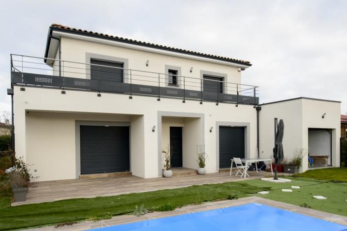 garde corps moderne terrasse maison