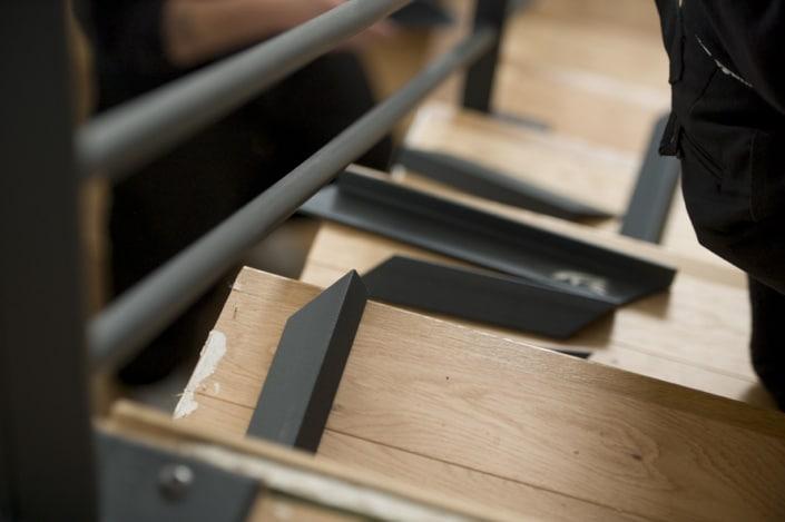 ferronnier pose escalier en acier