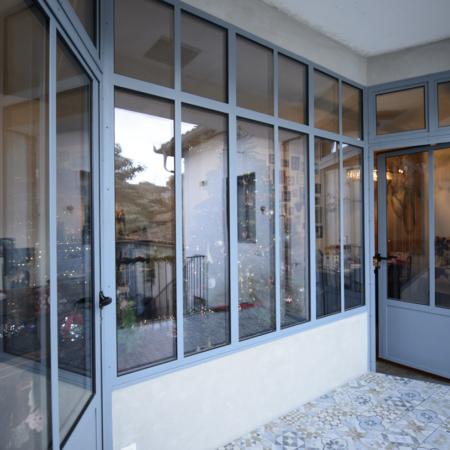 verrières d'extérieur de qualité avec double portes d'entrées en métal