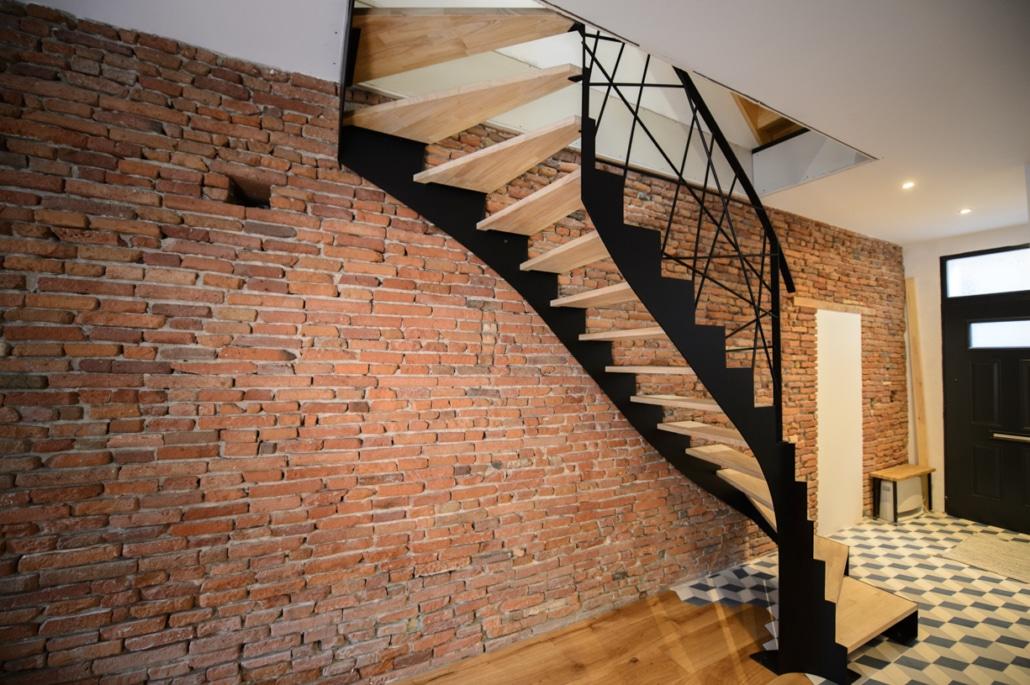 Escalier En Fer Ou En Acier Ferronnerie Toulouse Hf Metal
