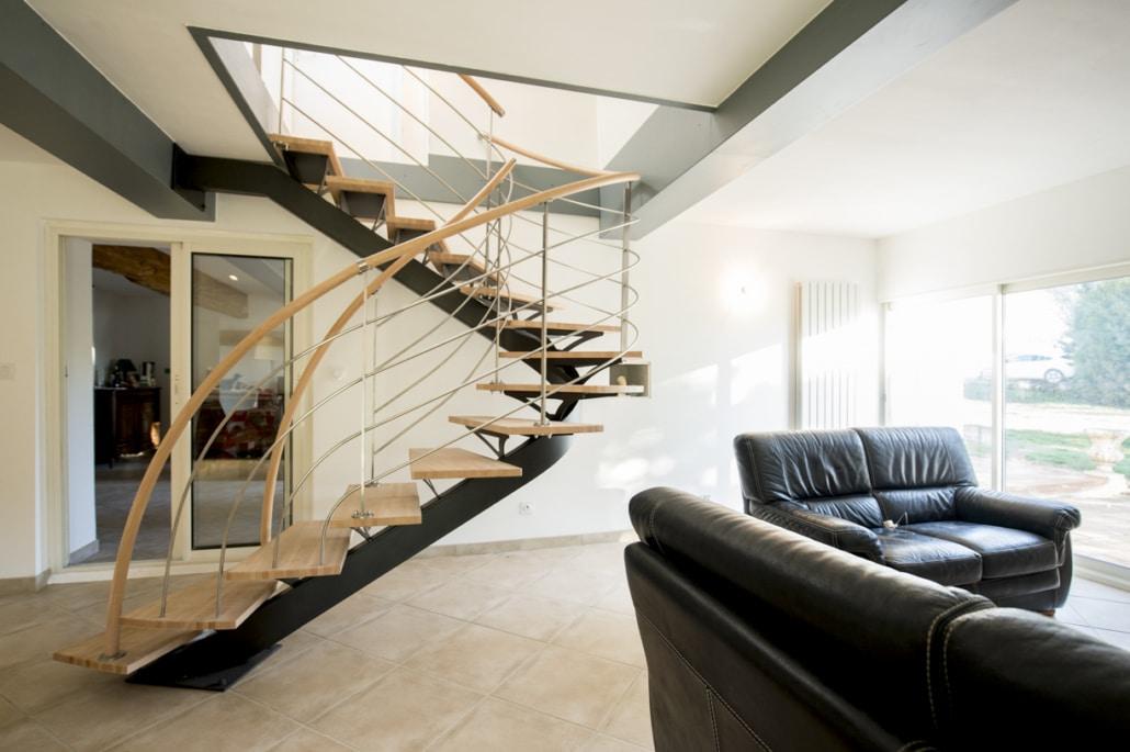 Escalier Double Quart 2 4 Tournant En Fer Ou Acier