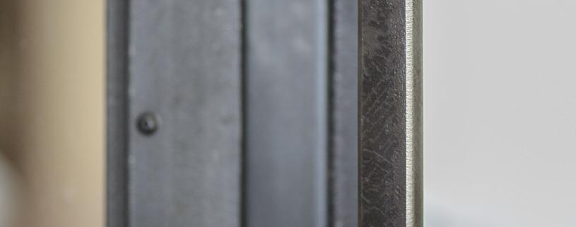 poignet de porte verrière en métal et acier