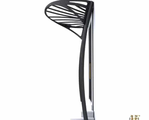 porte entree design avec marquise en metal