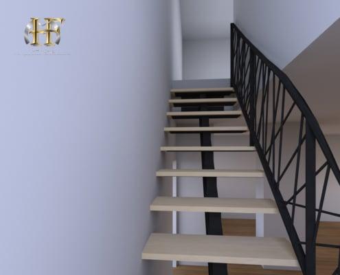 escalier et rampe design en fer forge