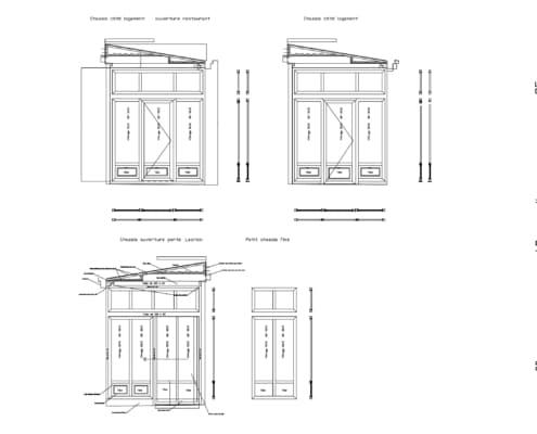 plan veranda design en acier