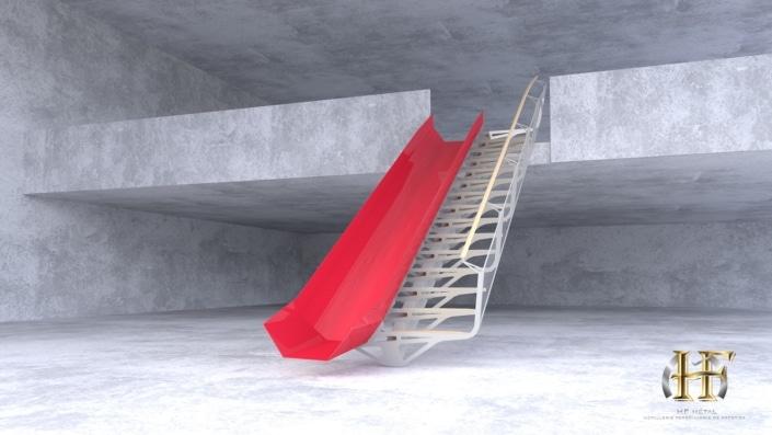 escalier toboggan design metal