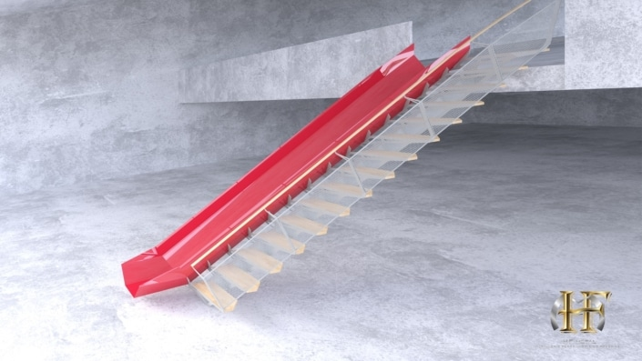 escalier toboggan original en fer