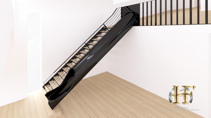 escalier droit toboggan original
