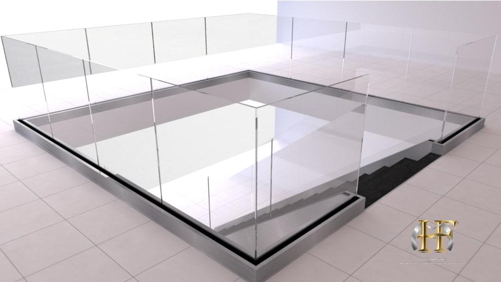 garde corps en verre moderne