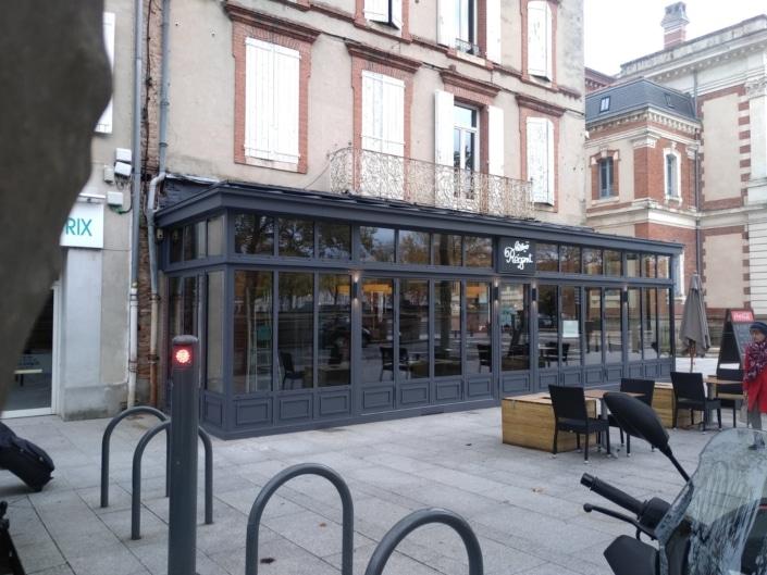 restaurant avec veranda en fer
