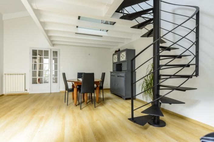escalier hélicoïdal en fer design