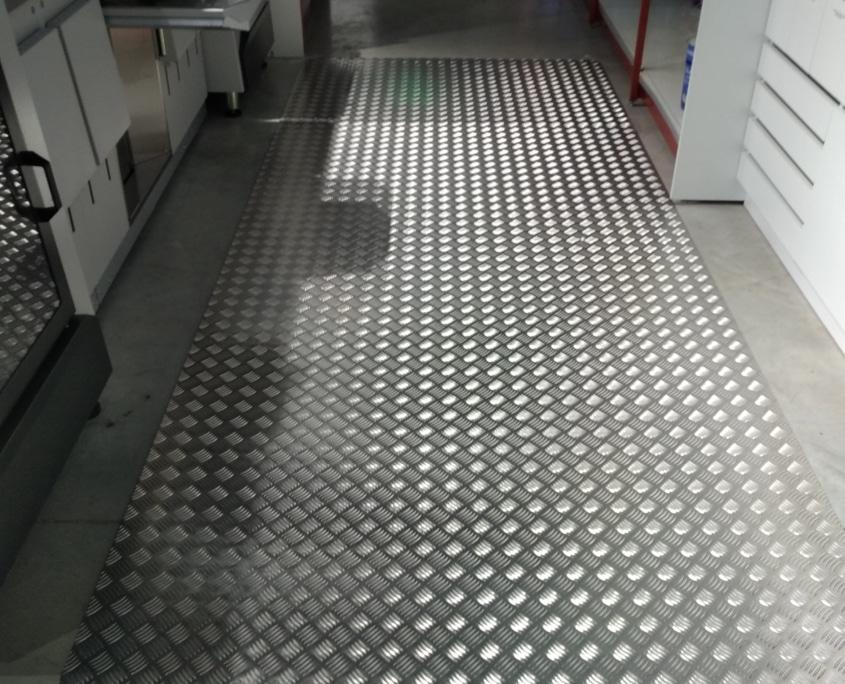 cisaillage de tole en aluminium
