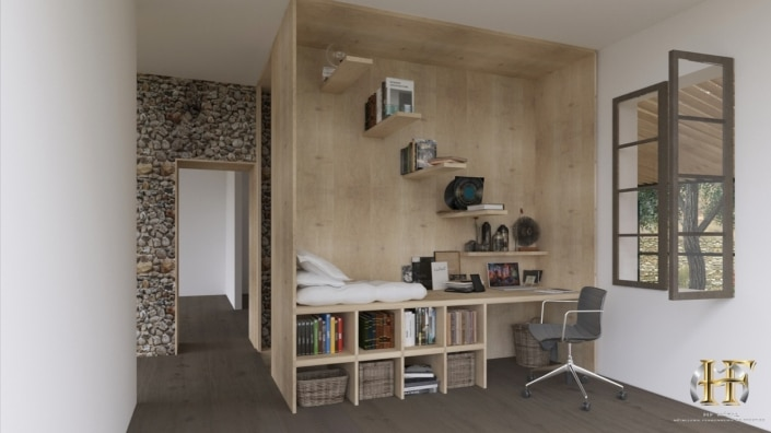 bureau design en bois