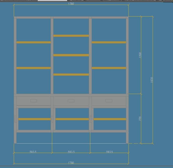 plan meuble de rangement en métal