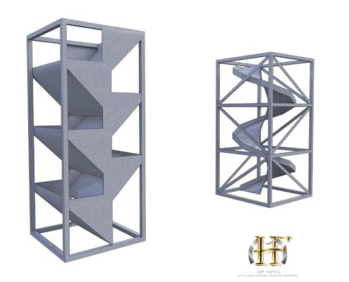 module escalier toboggan en metal